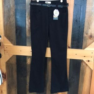 NWT BeBop  twill pants with bootcut flare leg